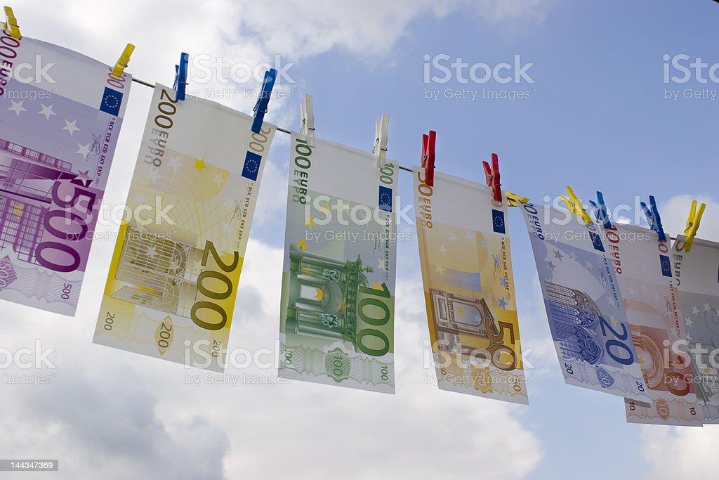 Money-laundering stock photo