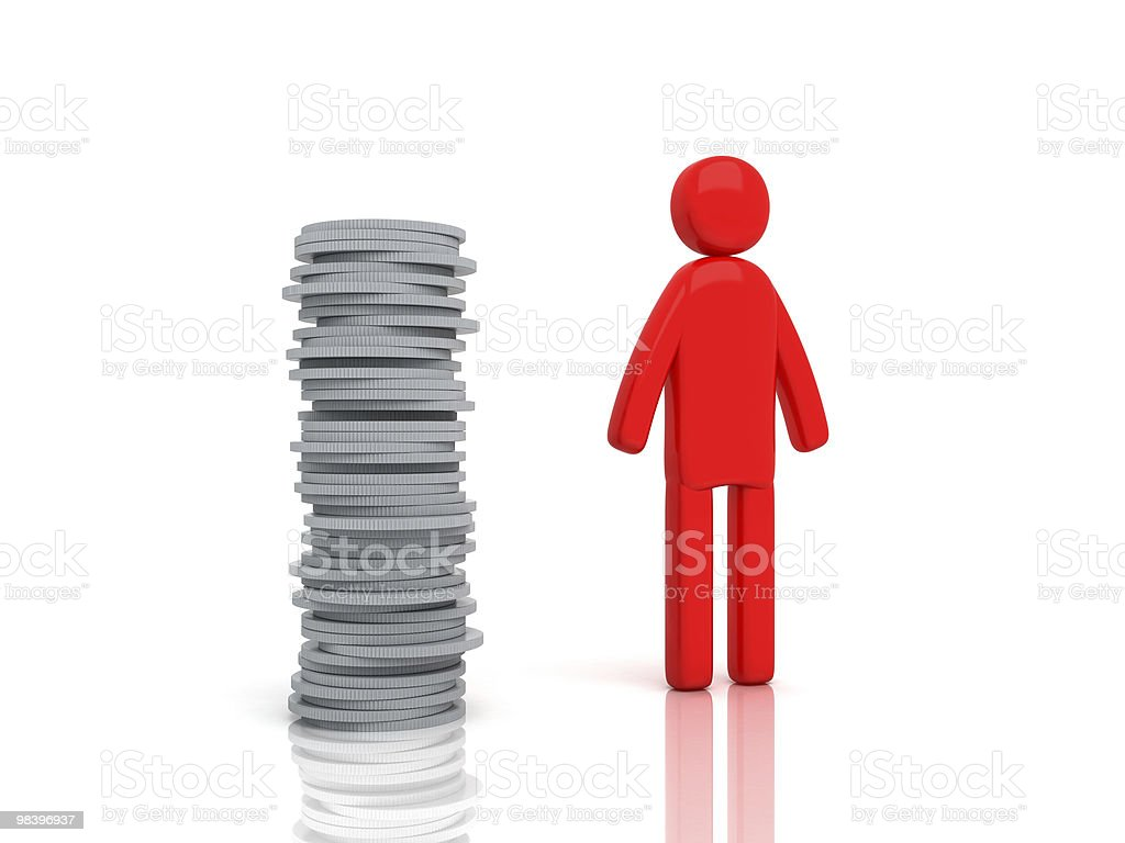 Moneyman with coins royalty-free stock photo