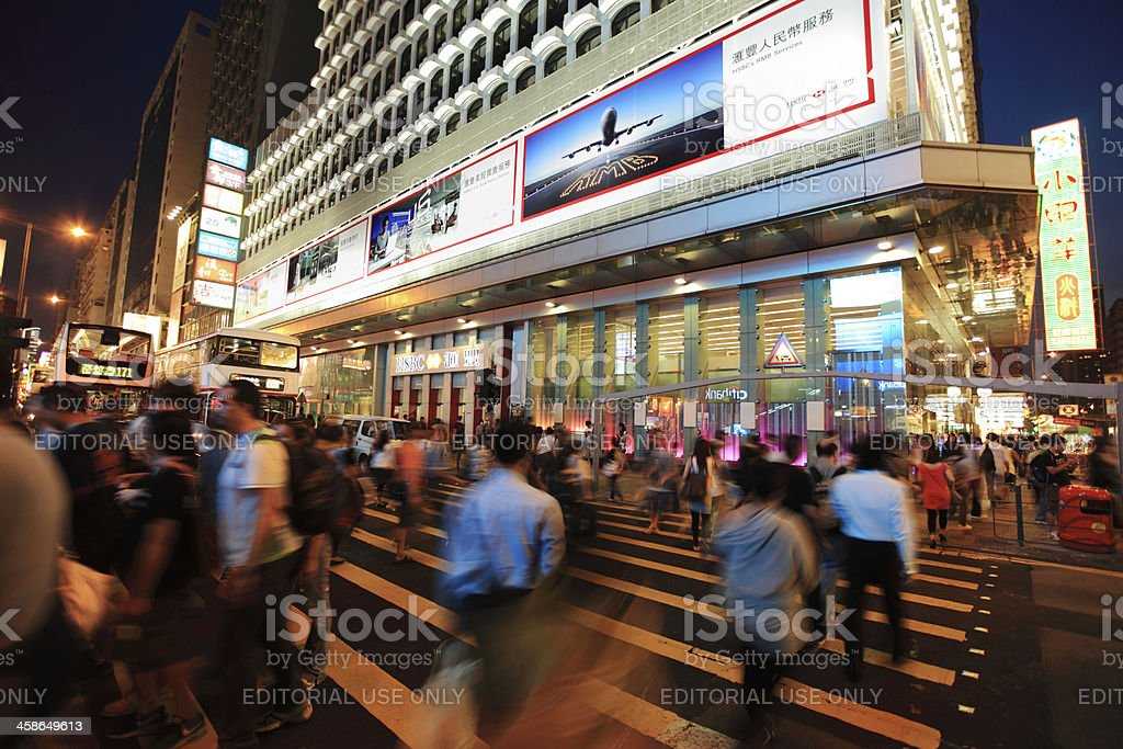 Mong Kok at Night royalty-free stock photo