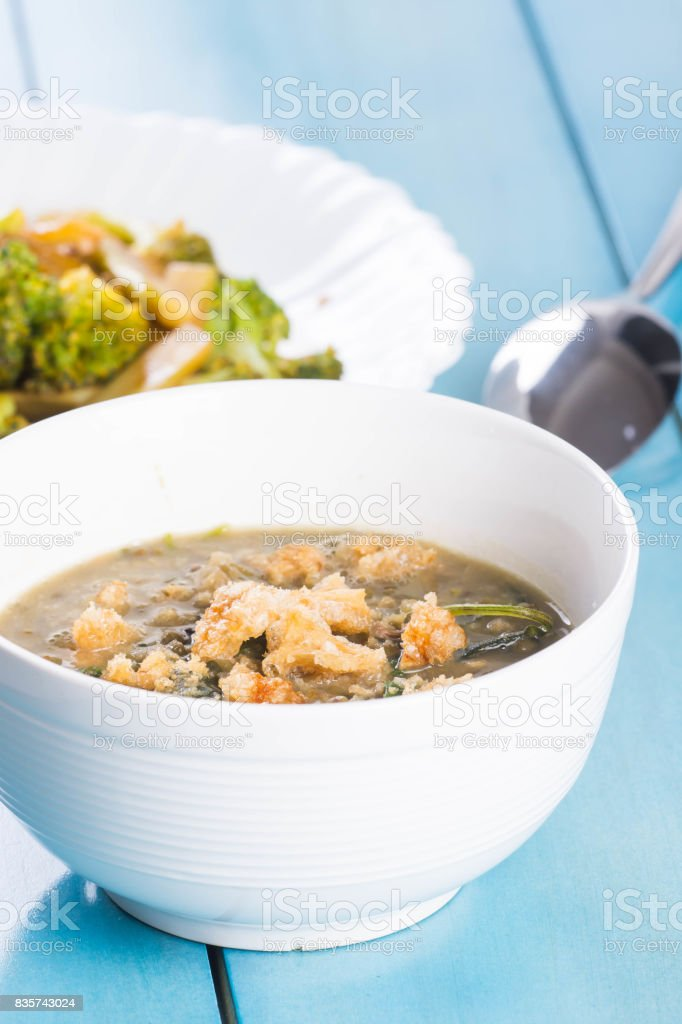 mongo soup stock photo