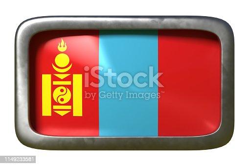 istock Mongolia flag sign 1149233581