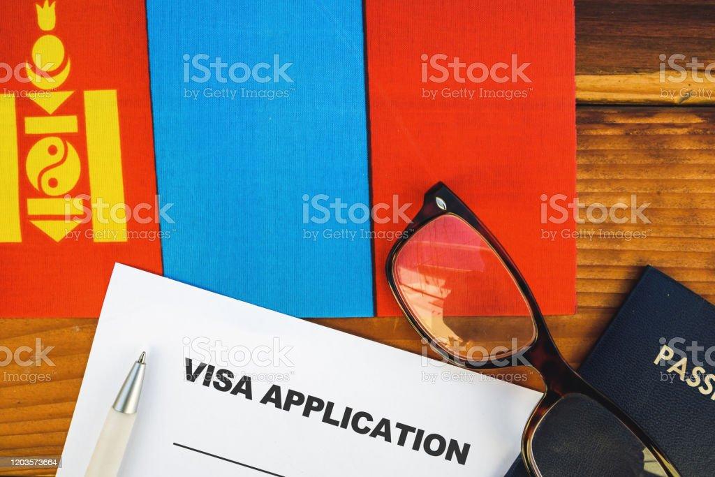 Mongolia Visa Applicatio Stock Photo Download Image Now Istock