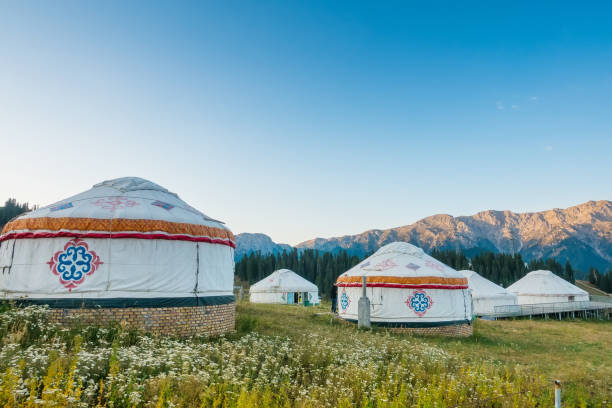 Mongolia yurt Mongolia yurt mongolian culture stock pictures, royalty-free photos & images