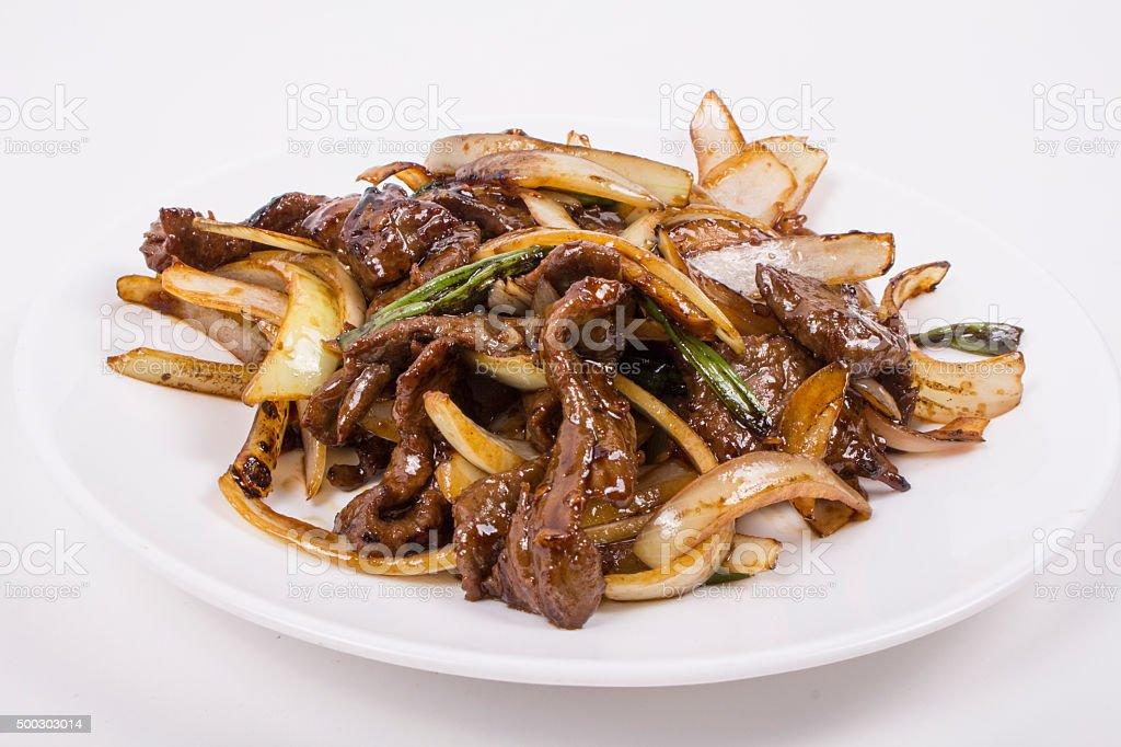 Mongolian Beef stock photo