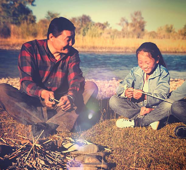 mongolische familie camping-urlaub konzept - rawpixel stock-fotos und bilder