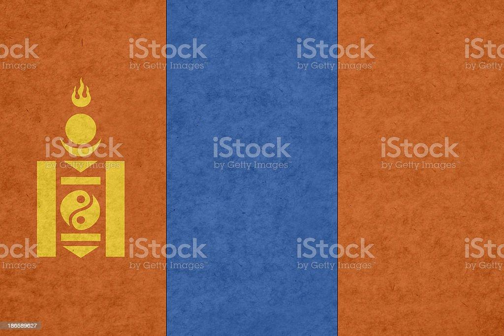 Mongolian flag royalty-free stock photo