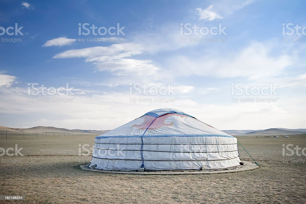 Mongolian Ger Tent royalty-free stock photo
