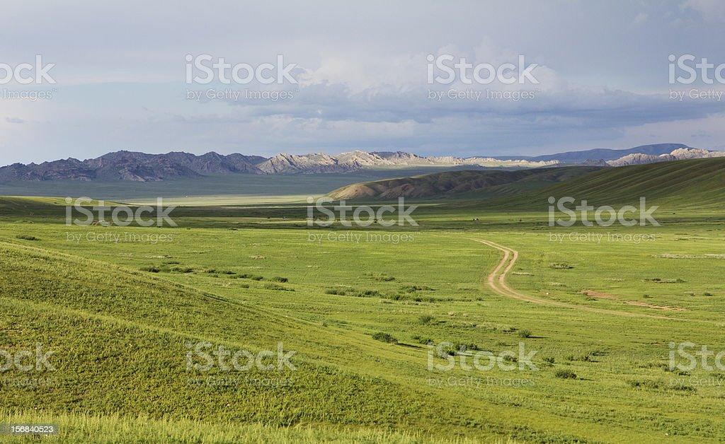 Mongolian Landscape royalty-free stock photo