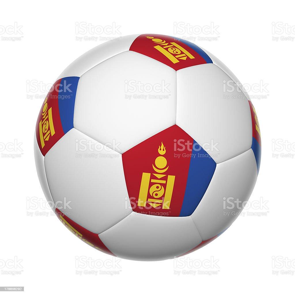 Mongolian soccer ball royalty-free stock photo