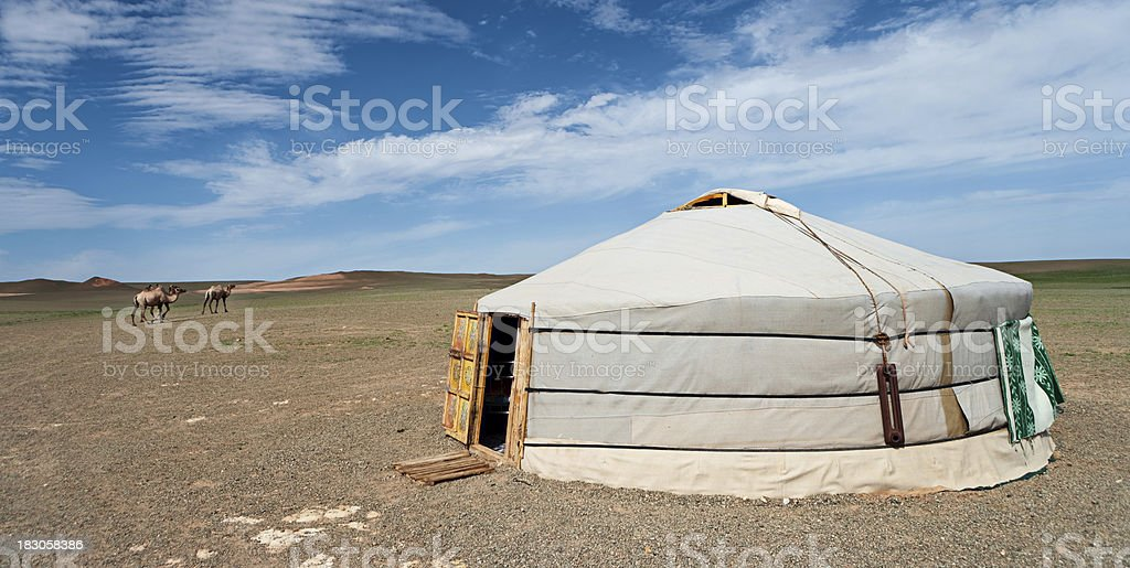 Mongolian yurt royalty-free stock photo