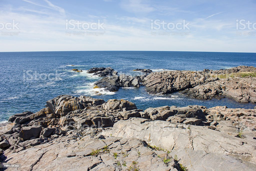 Monhegan Coastline royalty-free stock photo