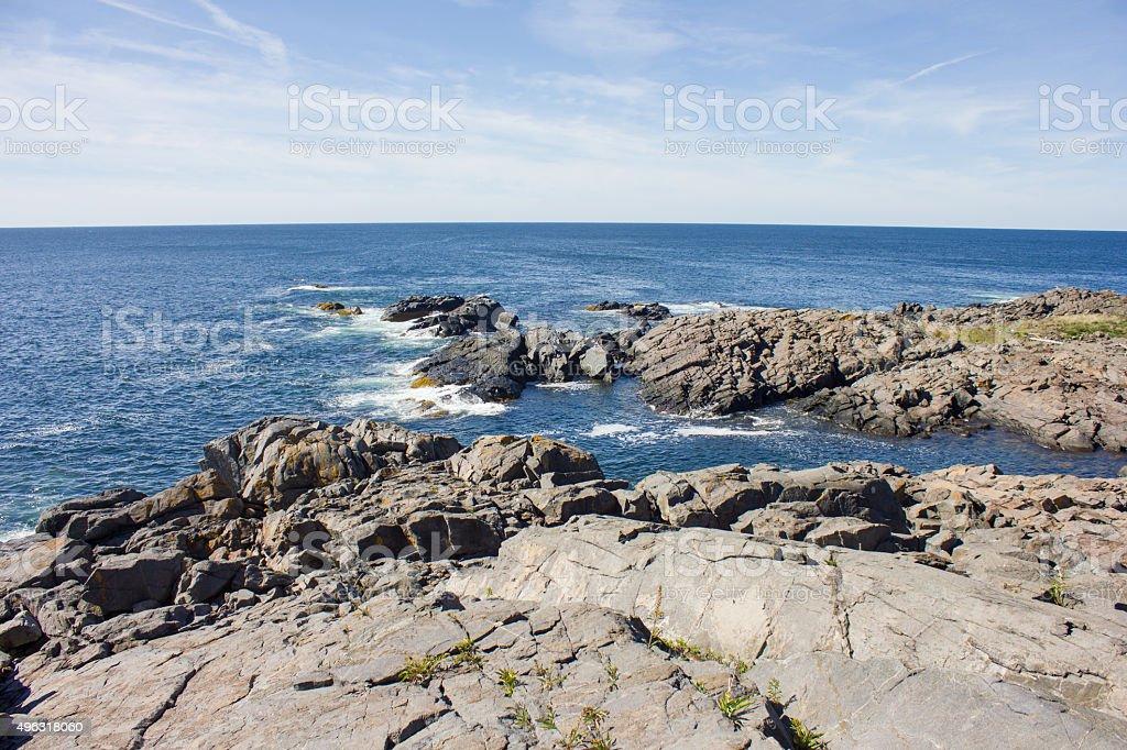 Monhegan Coastline stock photo