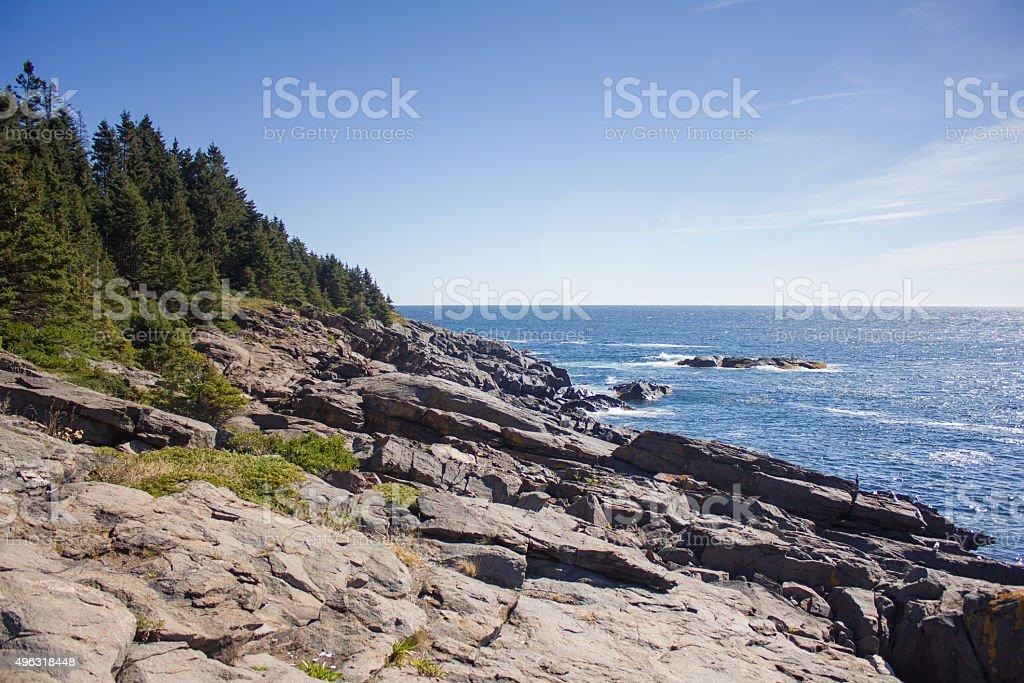 Monhegan Island Coastline stock photo