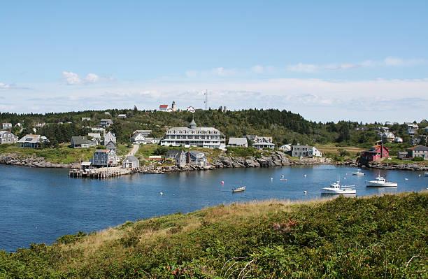 Isla de Monhegan, Maine - foto de stock