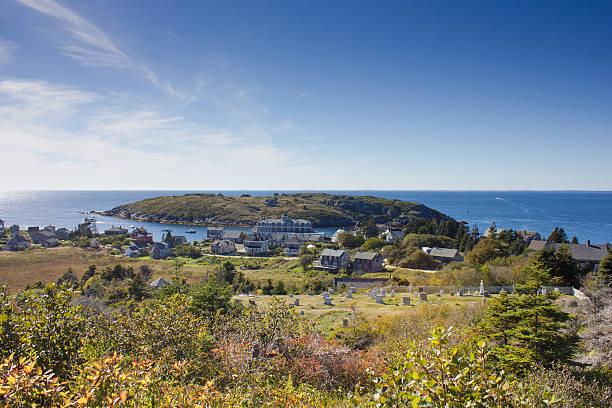 Monhegan Island stock photo