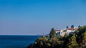 Moni Mirinidiou Church by the sea at Chios/Greece