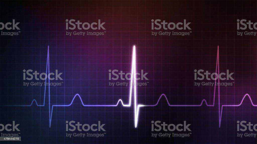 EKG monitor blue colorful stock photo