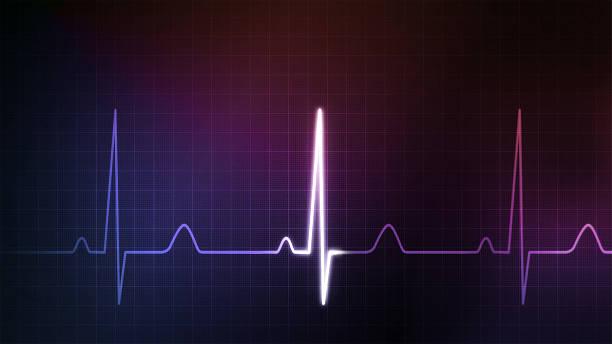 monitor colorido EKG Azul - foto de acervo