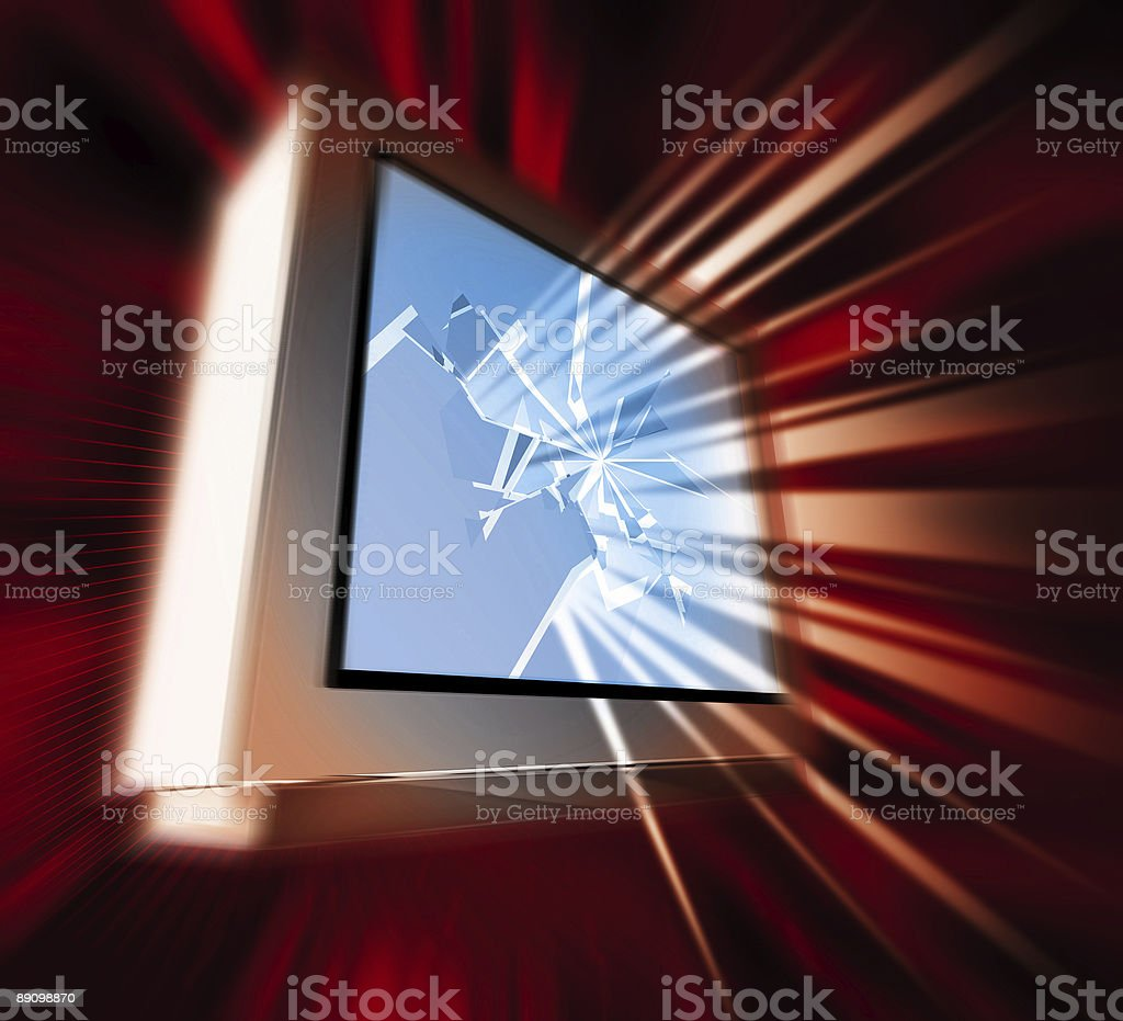 Monitor Crash royalty-free stock photo