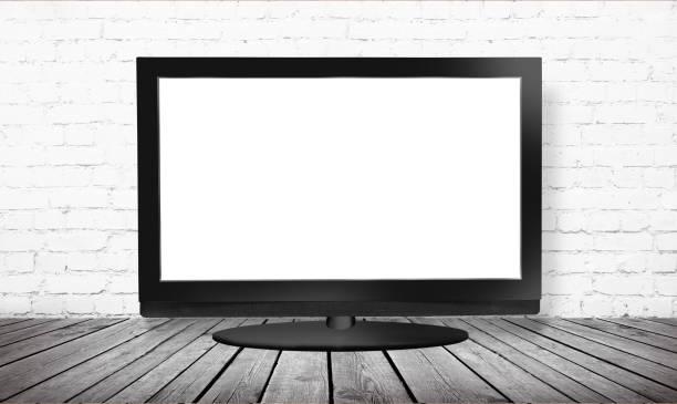monitor isoliert auf weiß - desktop hintergrund hd stock-fotos und bilder