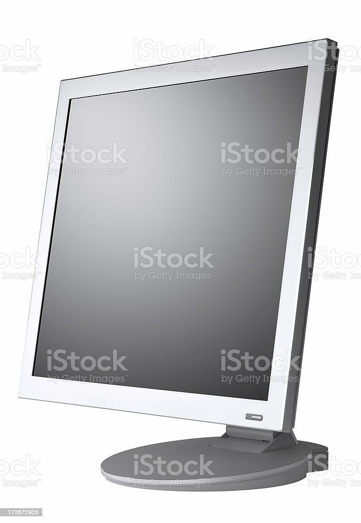 LCD monitor, isolated on white (clipping path) royalty-free stock photo
