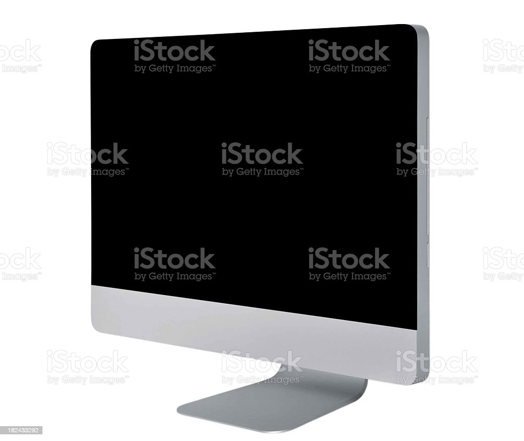 Monitor isolated on white with clipping paths stock photo