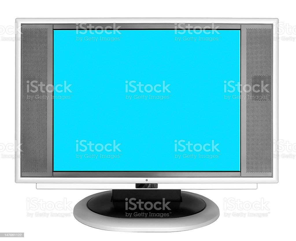 Monitor of the computer on white background royalty-free stock photo
