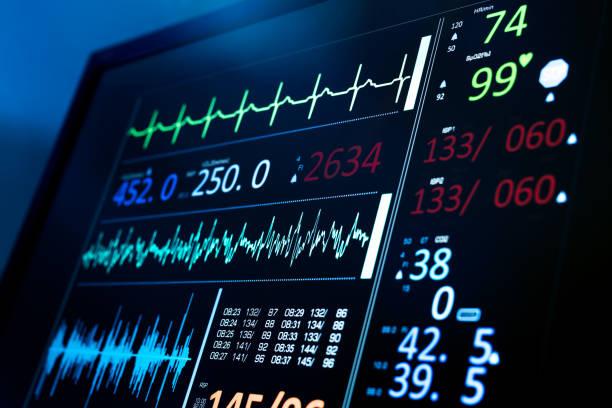 ecg monitor - pulsmessung stock-fotos und bilder