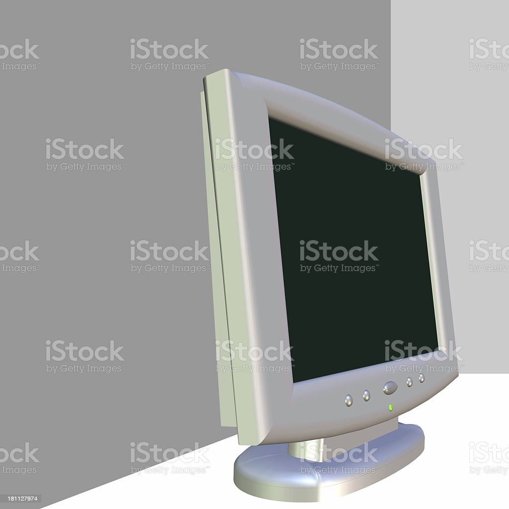 3D Monitor (Side) royalty-free stock photo