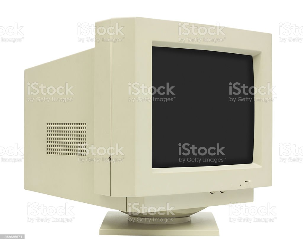 CRT Monitor stock photo