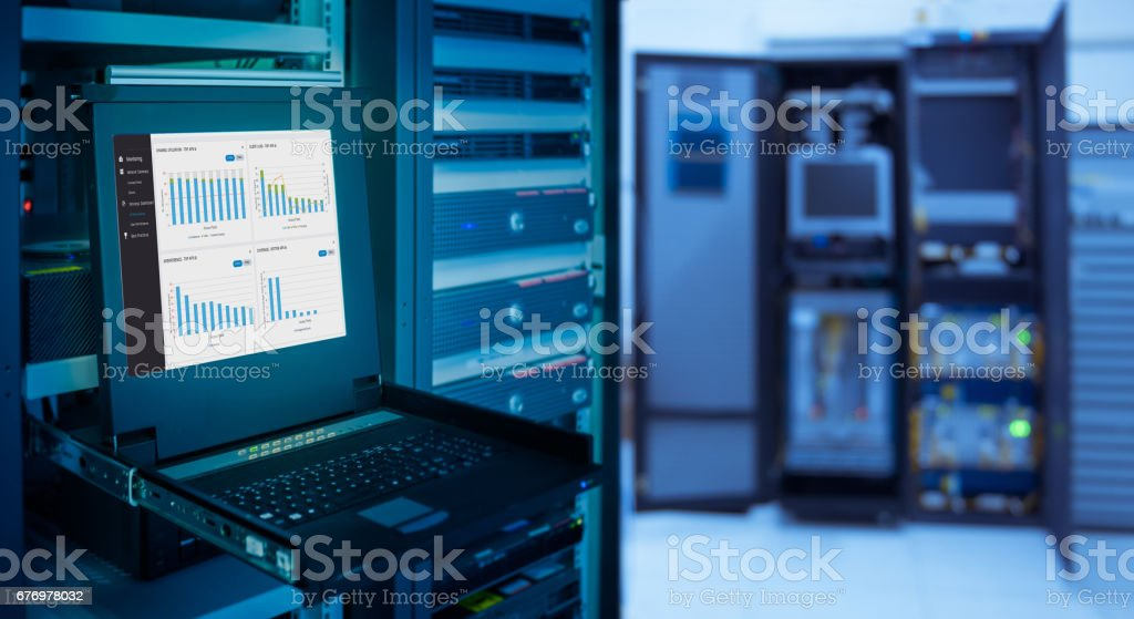 monitor show graph information of network traffic and status of...