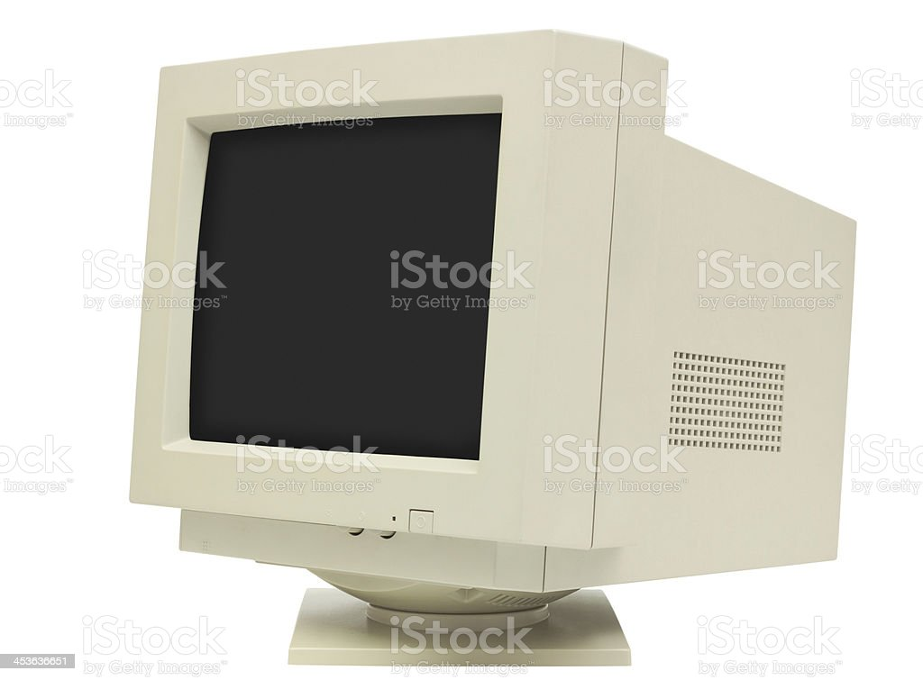 CRT Monitor Side View stock photo