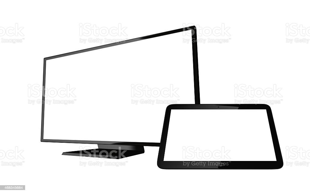 Monitor, tablet computer royalty-free stock photo