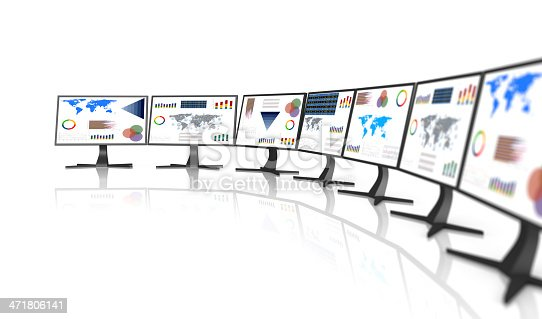 155351584istockphoto PC monitor with business chart 471806141