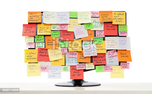 istock Monitor with post-it notes 508214559