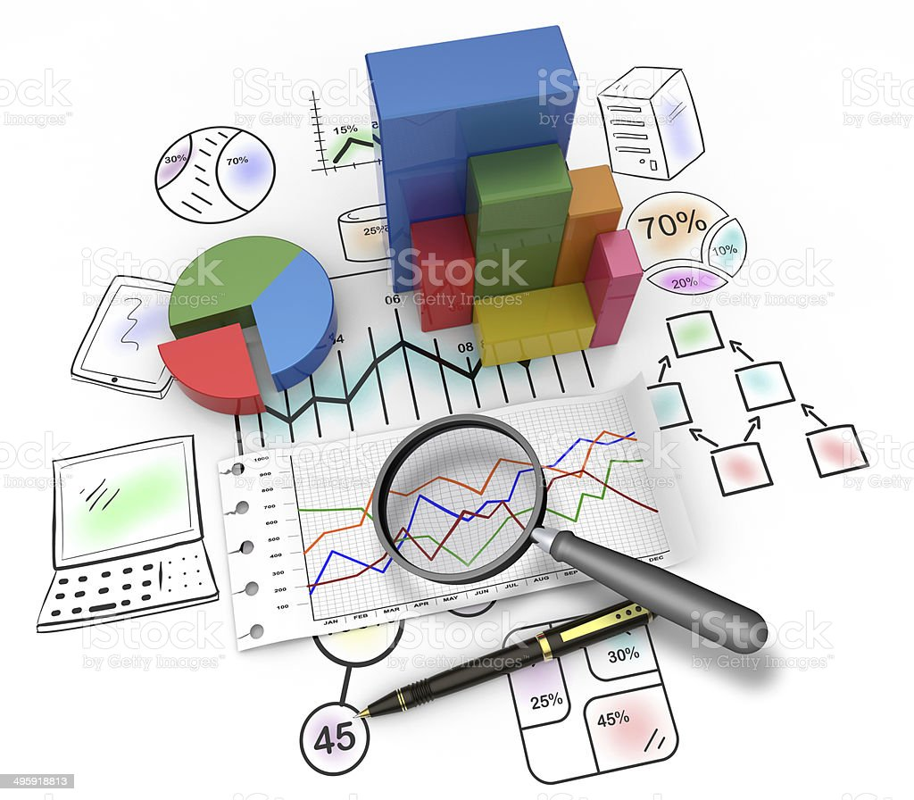 Monitoring business stock photo