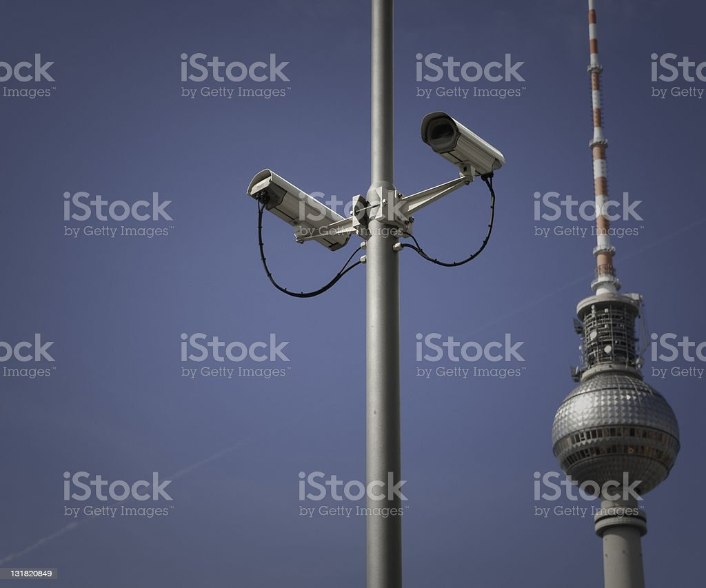 monitoring camera berlin stock photo