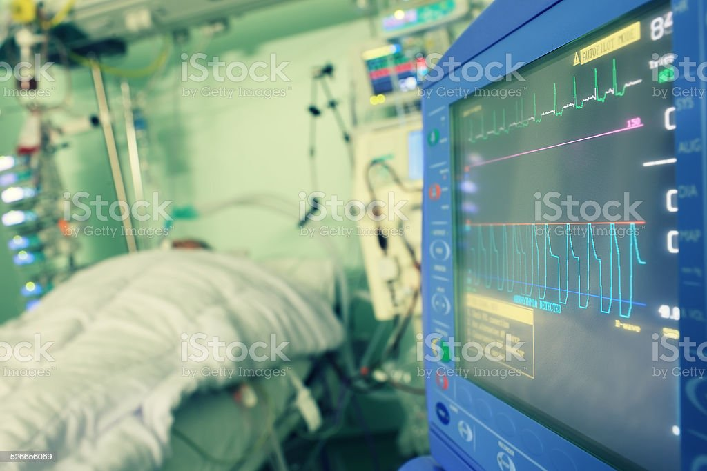 Monitoring of the patient in hospital stock photo
