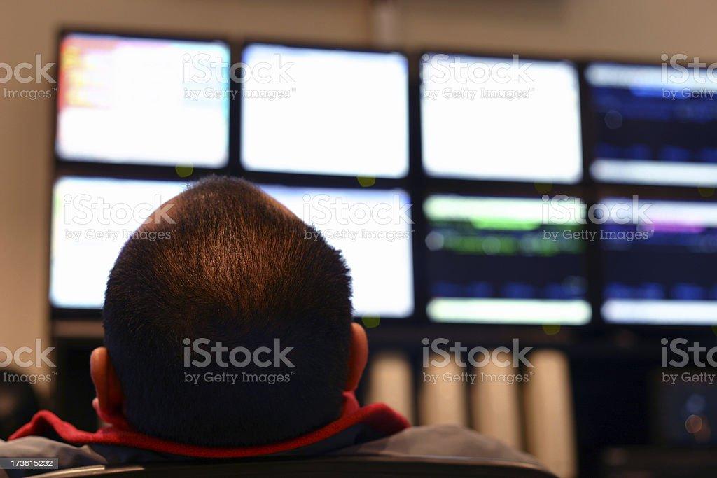 Monitoring the Monitors stock photo