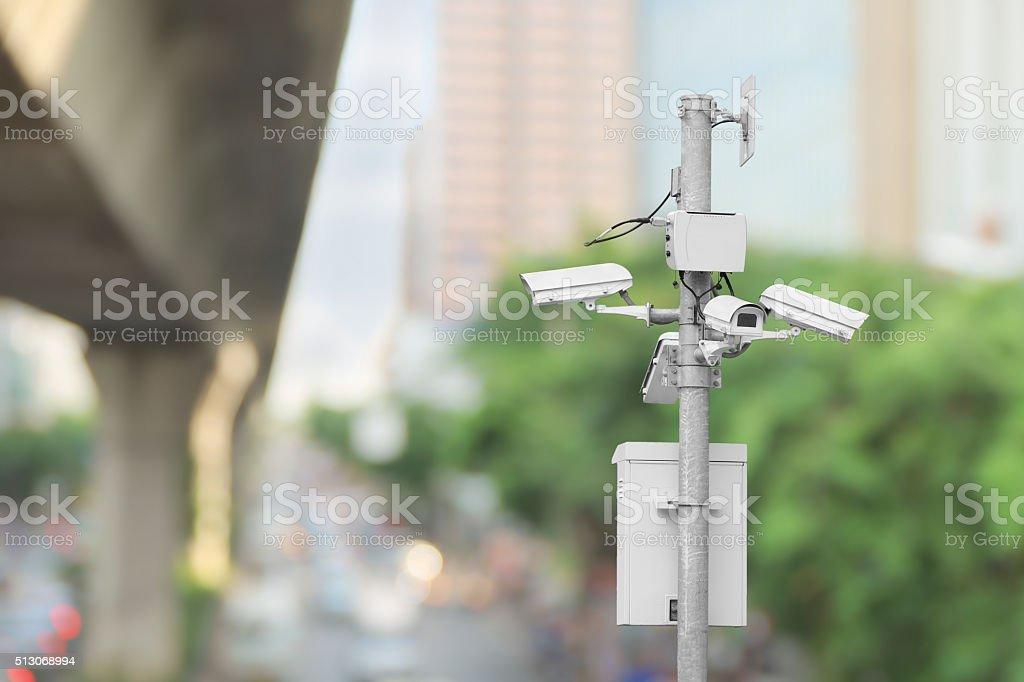 Monitoring traffic stock photo