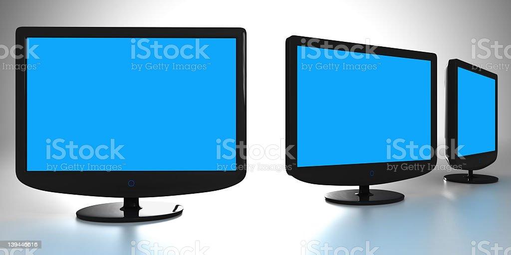 LCD Monitors royalty-free stock photo