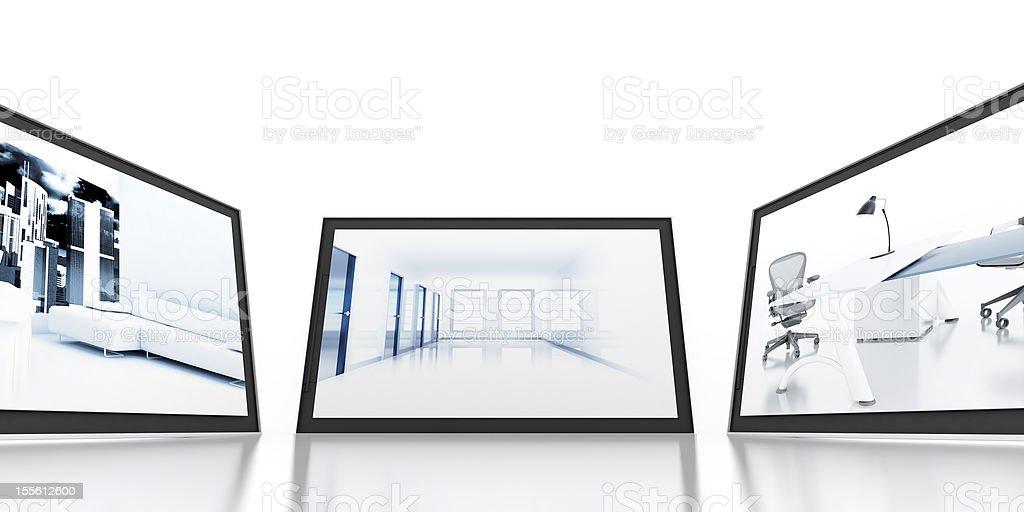 monitors stock photo