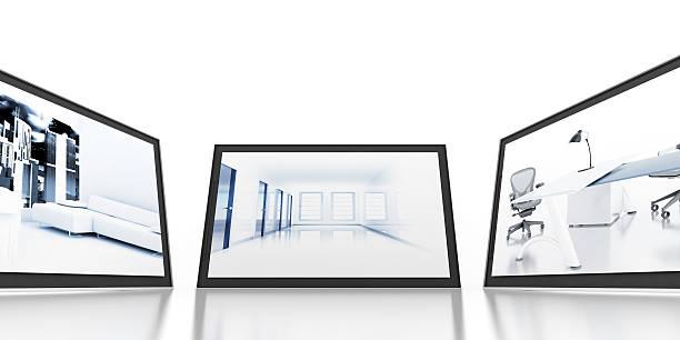 monitore - große leinwand stock-fotos und bilder