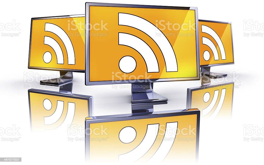 RSS monitors stock photo