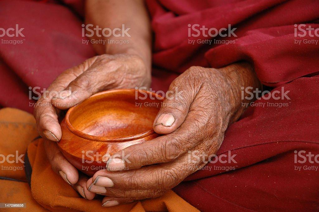 Monk Hands stock photo