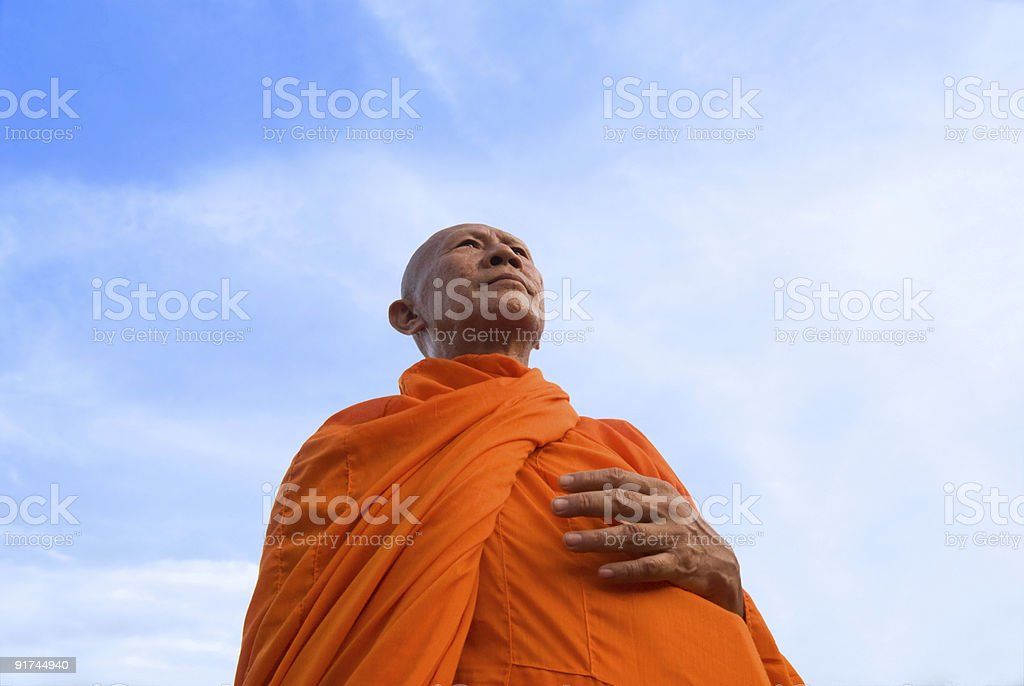Monk In Thailand stock photo