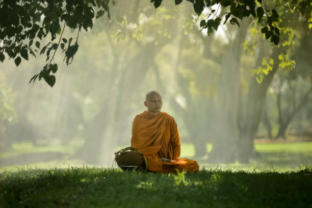 Buddhist Monk Meditating Stock Photos, Pictures & Royalty ...