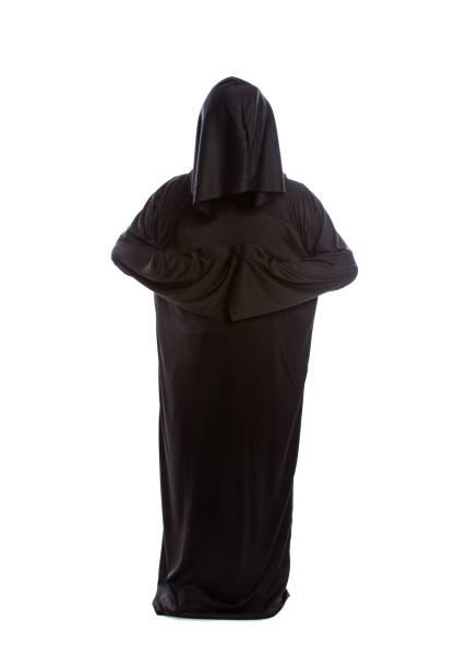 Monk Wearing Black Robes stock photo