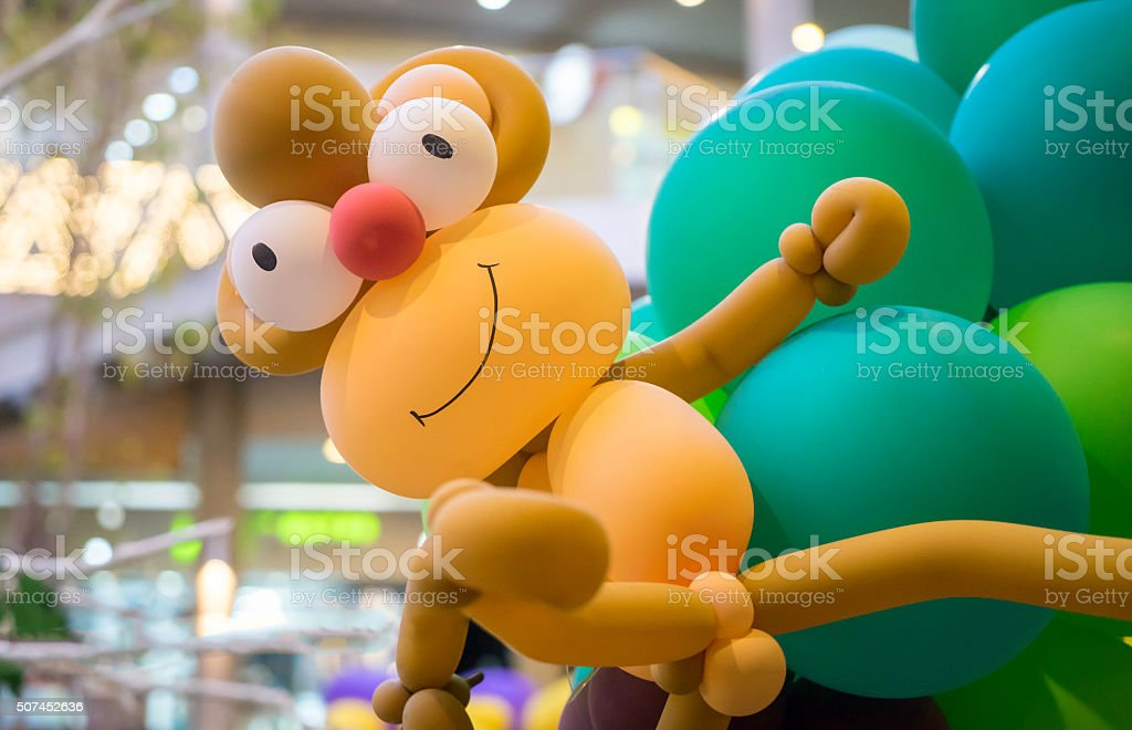 Monkey Balloon animal stock photo