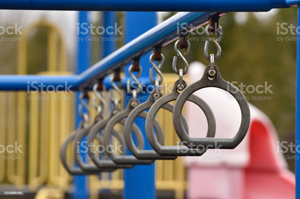 Monkey Bar Rings stock photo